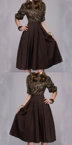Rochie maro cu imprimeuri