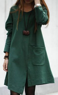 Rochie verde asimetrica