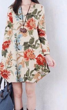 Rochie/bluza bej cu flori