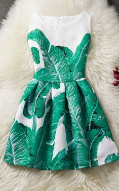 Rochita alba cu frunze verzi