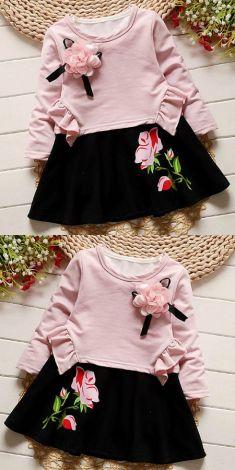 Rochita alba cu negru (2 piese - rochita+bluza roz)