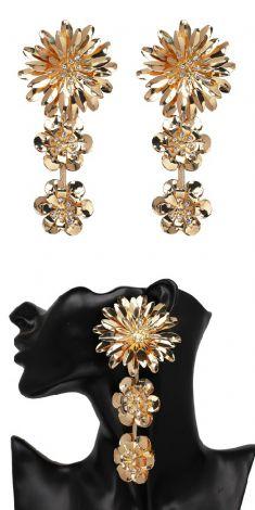 Cercei aurii - trei flori