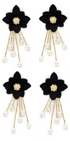 Cercei cu flori negre