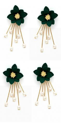 Cercei cu flori verzi