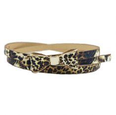 Curea leopard-print cu funda - subtire