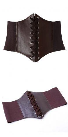 Curea maro tip corset