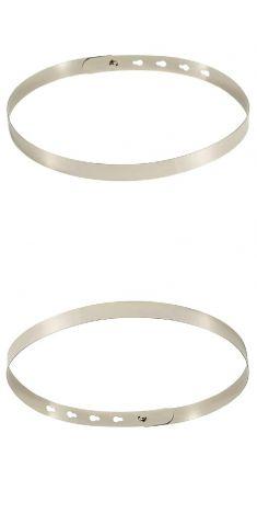 Curea metalica rigida argintie 2 cm