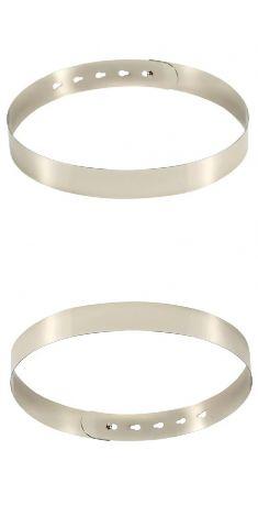 Curea metalica rigida argintie 3,5 cm