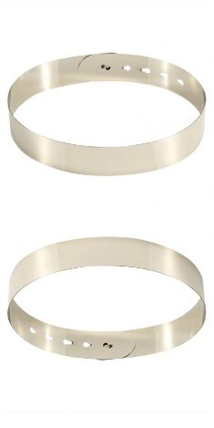 Curea metalica rigida argintie 4 cm