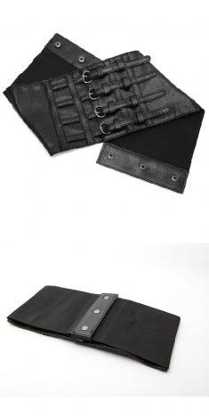 Curea neagra lata tip corset, model 3
