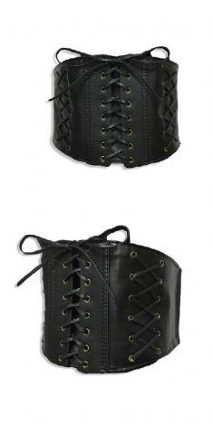 Curea neagra lata, tip corset - model 5