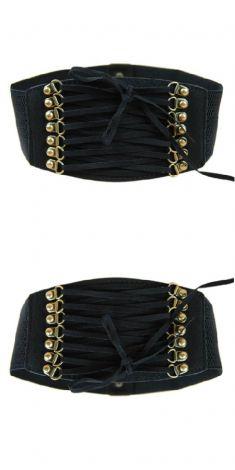 Curea tip corset de culoare neagra