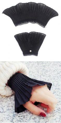Mansete negre de camasa/pulover - model 1