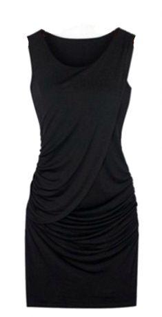 Rochie de gravide neagra cu pliseuri pe burta