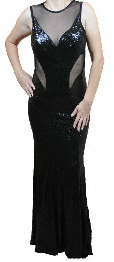 Rochie de seara neagra cu spate decupat