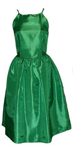Rochie verde cu umerii goi